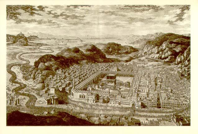 Dibujo de la Meca en 1850