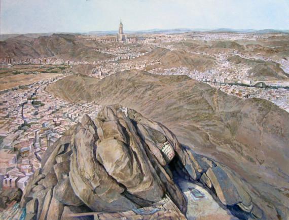 Muhammad y la profecía - Imagen de la cueva de Hira, en el monte de Nur