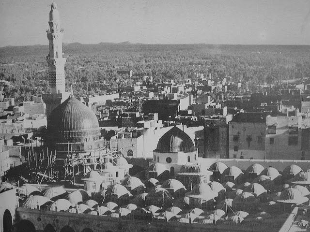 Ciudad de Medina Al Munawara en los años 1950