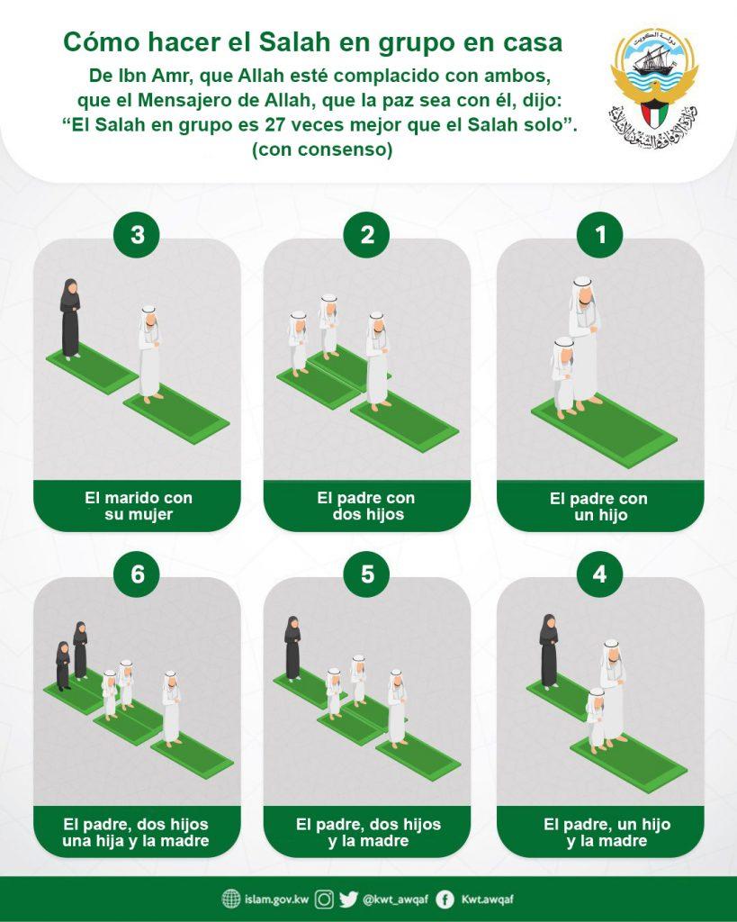 Cómo hacer el Salah en grupo en casa